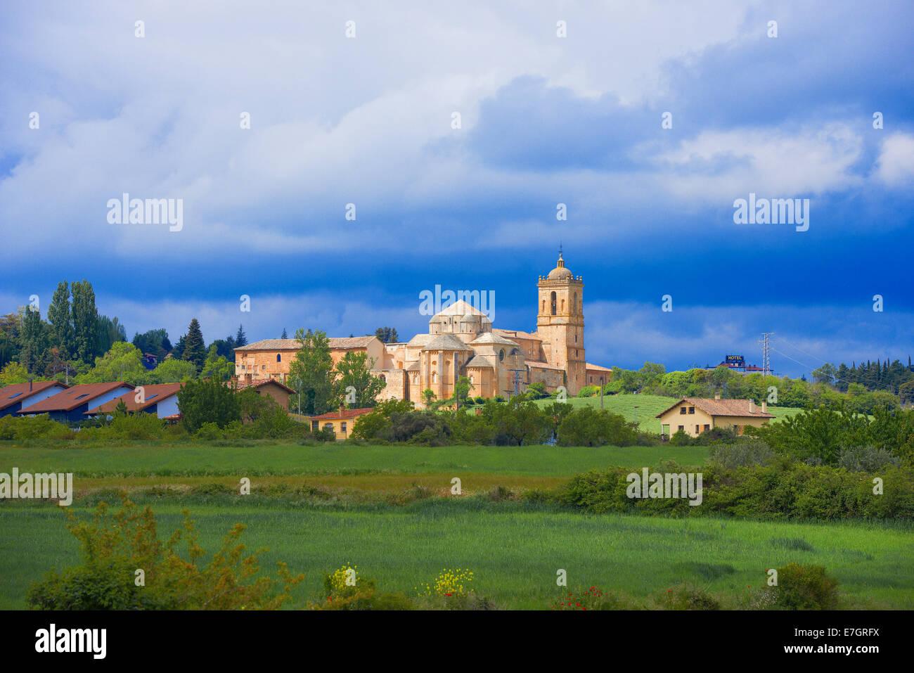 Irache Monastery, Camino de Santiago, Navarra, Ayegui, Navarre, Way of St James, Spain - Stock Image