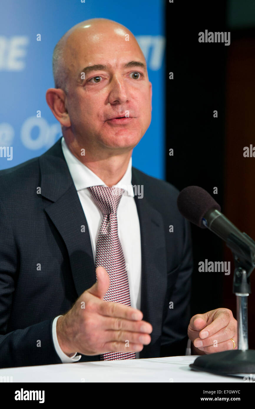 Jeff Bezos Founder Of Amazon Com And Blue Origin Participates In A