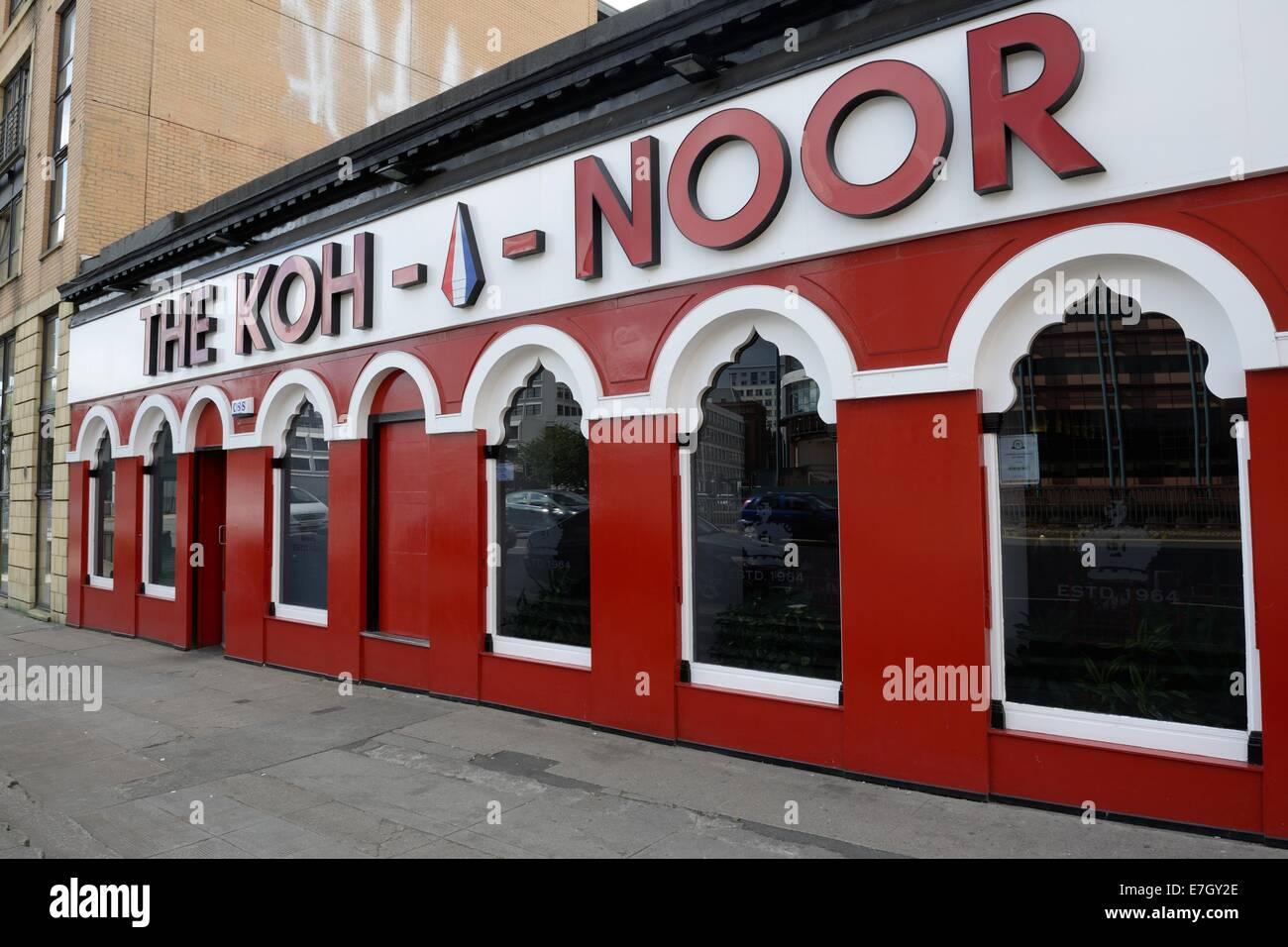 The Koh-i-noor indian restaurant, Charing Cross, Glasgow - Stock Image