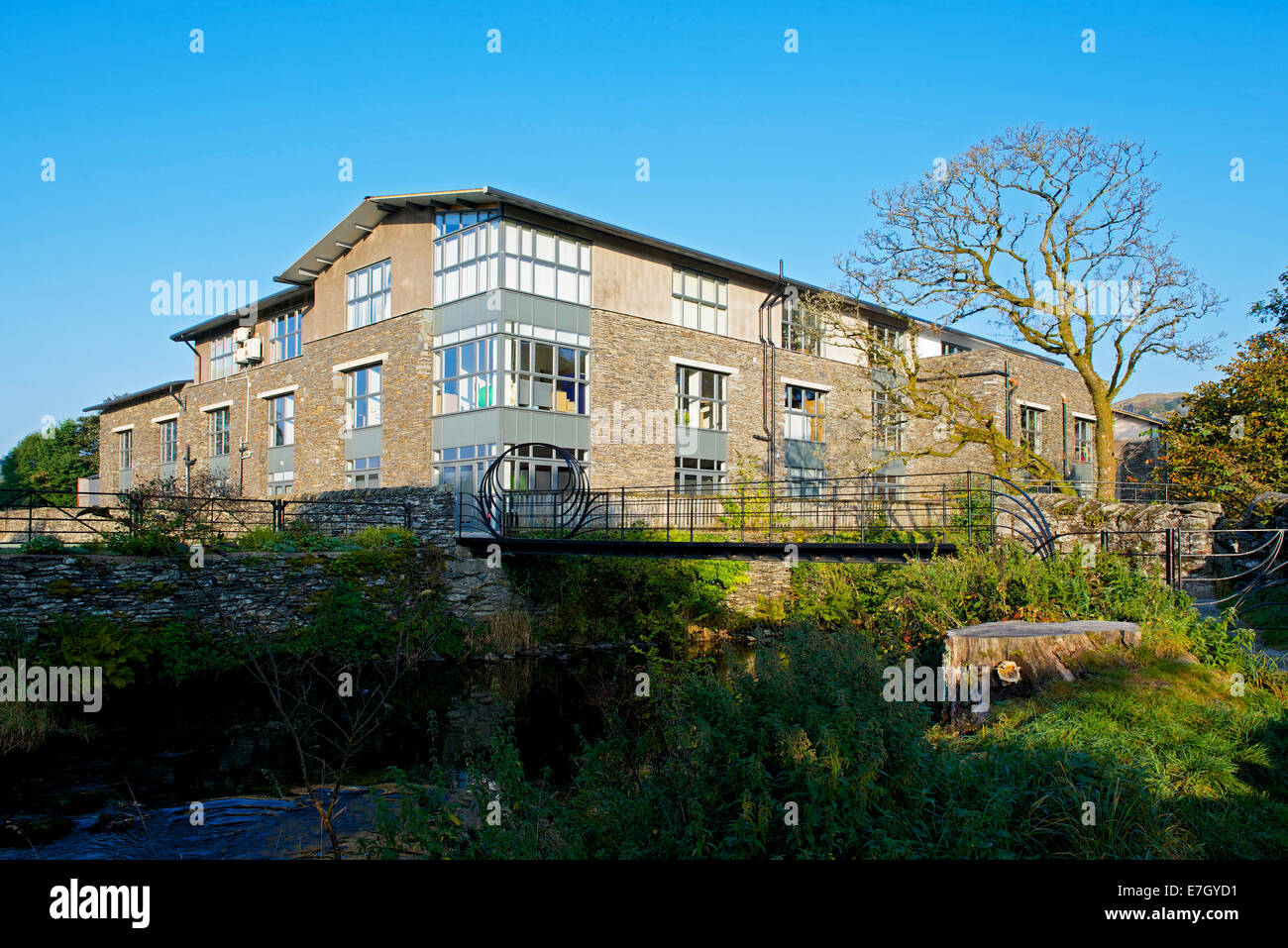 Offices at Staveley Mill Yard, Cumbria, England UK - Stock Image