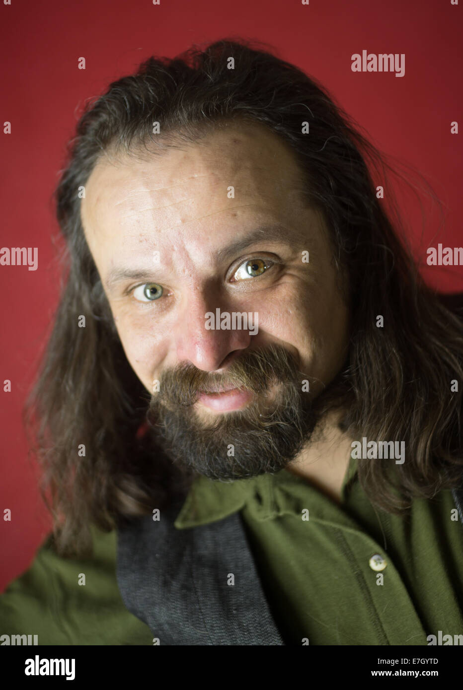 portrait of a man who wants to cheat you - Stock Image