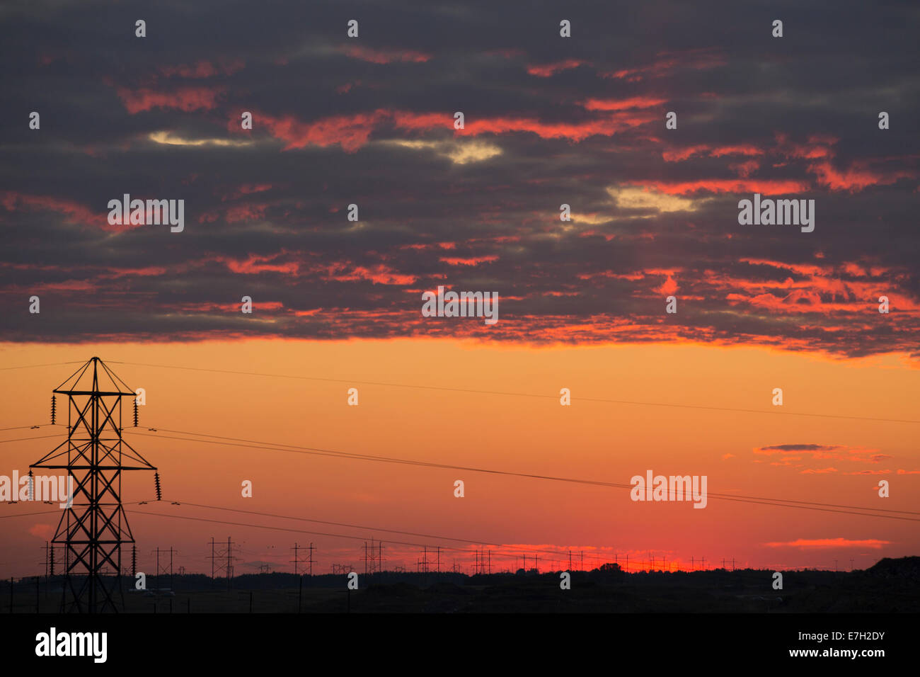 Transmission towers - Stock Image
