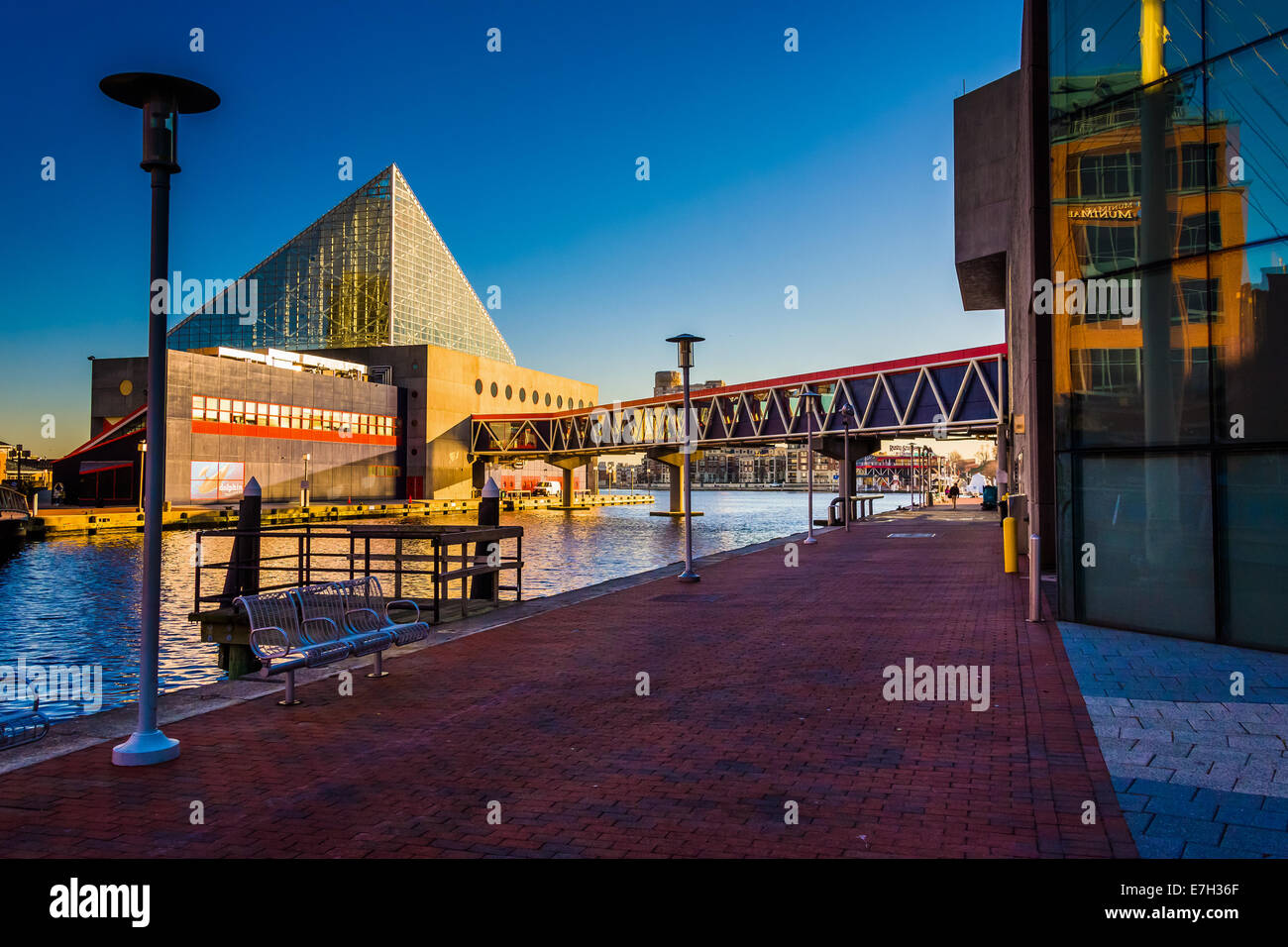 The National Aquarium  at the Inner Harbor in Baltimore, Maryland. - Stock Image