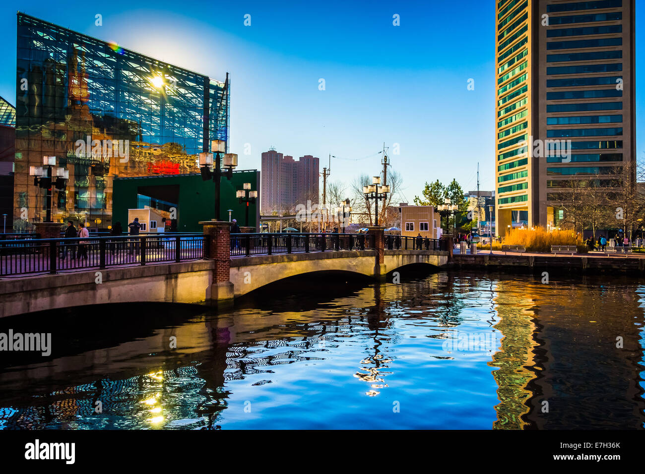 The National Aquarium and World Trade Center at the Inner Harbor in Baltimore, Maryland. - Stock Image