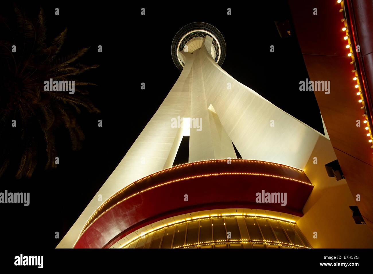 Stratosphere tower, Las Vegas, Nevada, USA - Stock Image