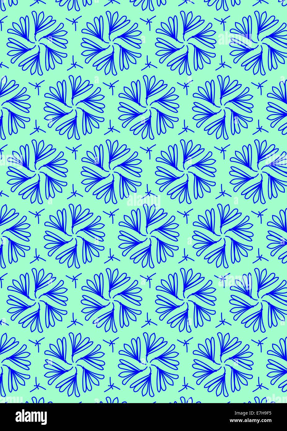 illustration of symmetrical design wallpaper - Stock Image