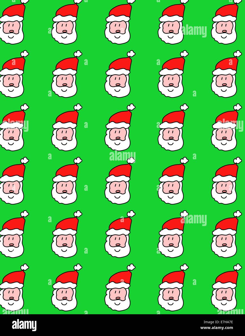 Illustration of symmetrical Christmas Santa Claus design wallpaper ...