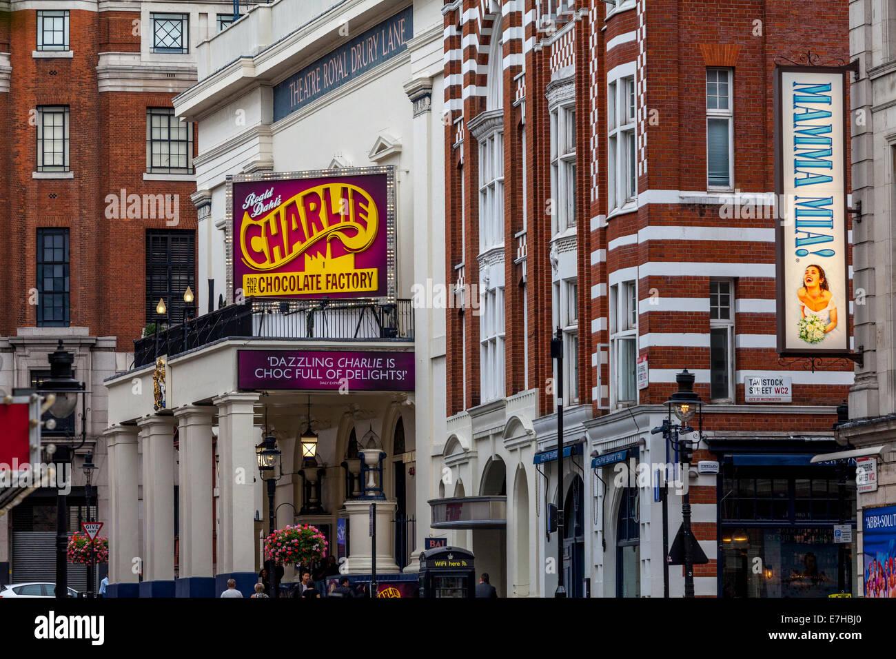 Theatre Royal Drury Lane, London, England - Stock Image
