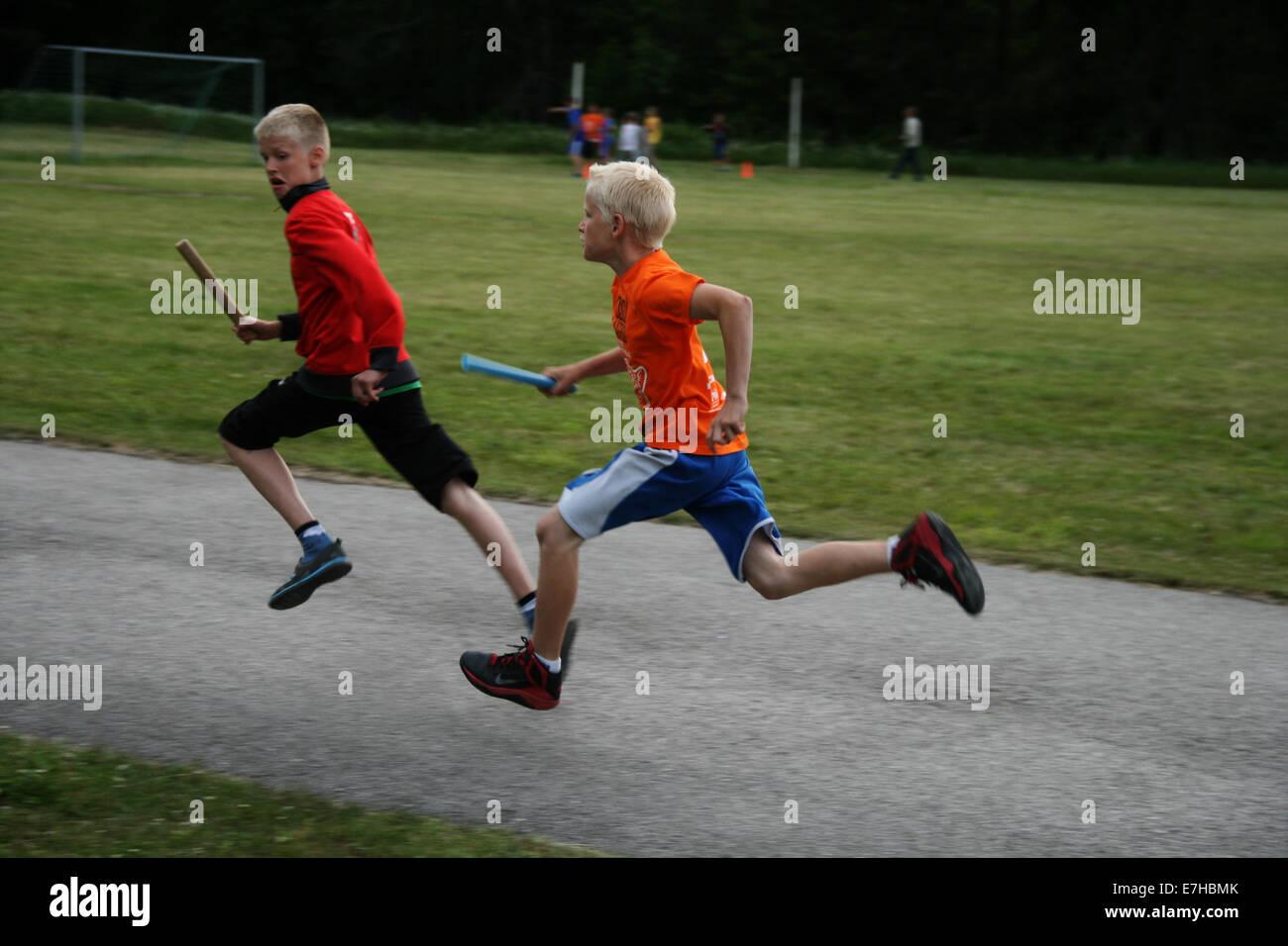 Relay race - Stock Image