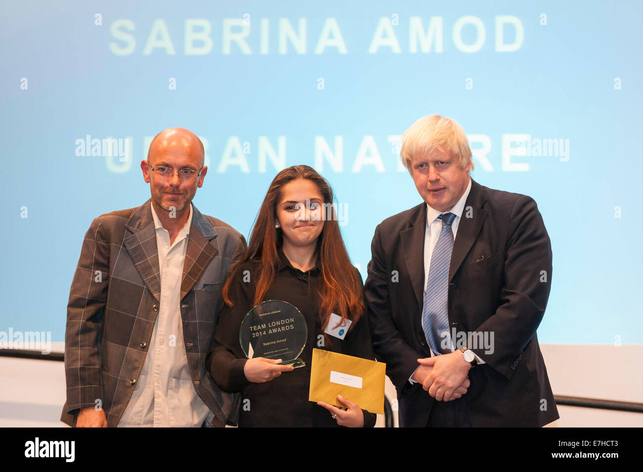 London, UK, 17 September 2014. Boris Johnson, Mayor of London, celebrates the capital's volunteering legacy - Stock Image