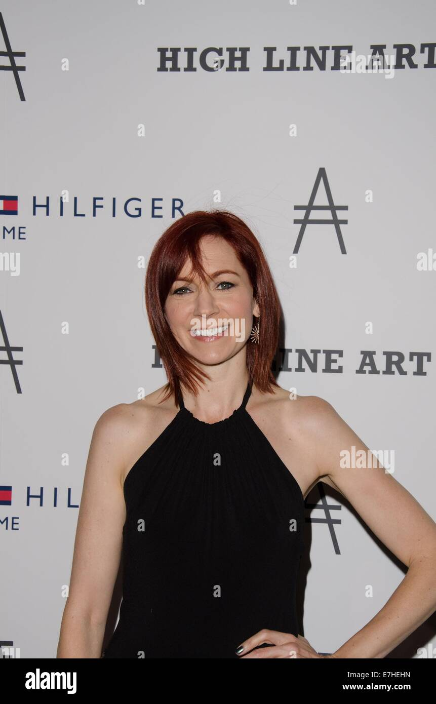 New York, NY, USA. 17th Sep, 2014. Carrie Preston at arrivals for Friends of the High Line 2nd Annual High Line - Stock Image