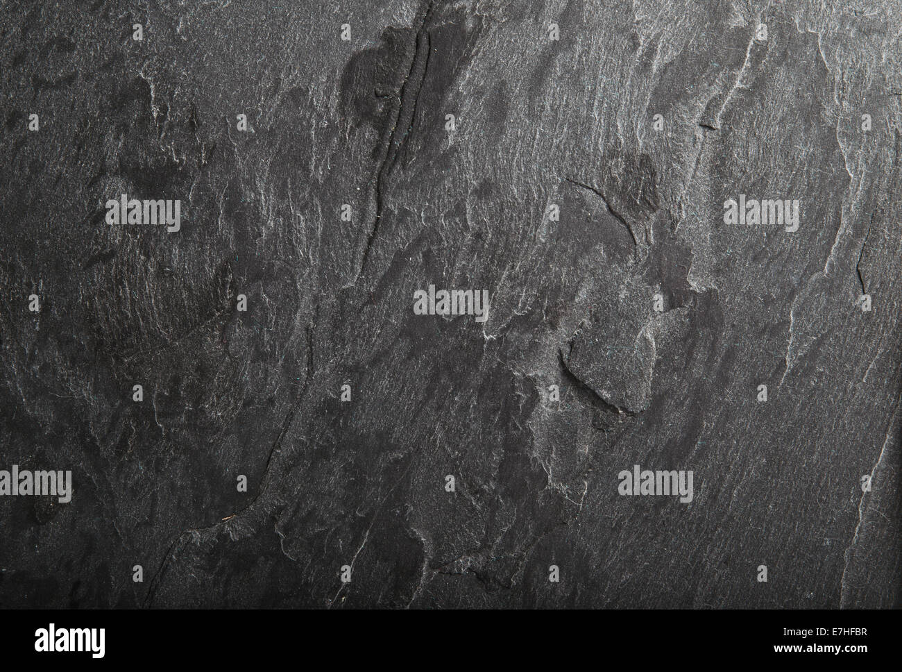 Abtract black slate rock material background texture - Stock Image