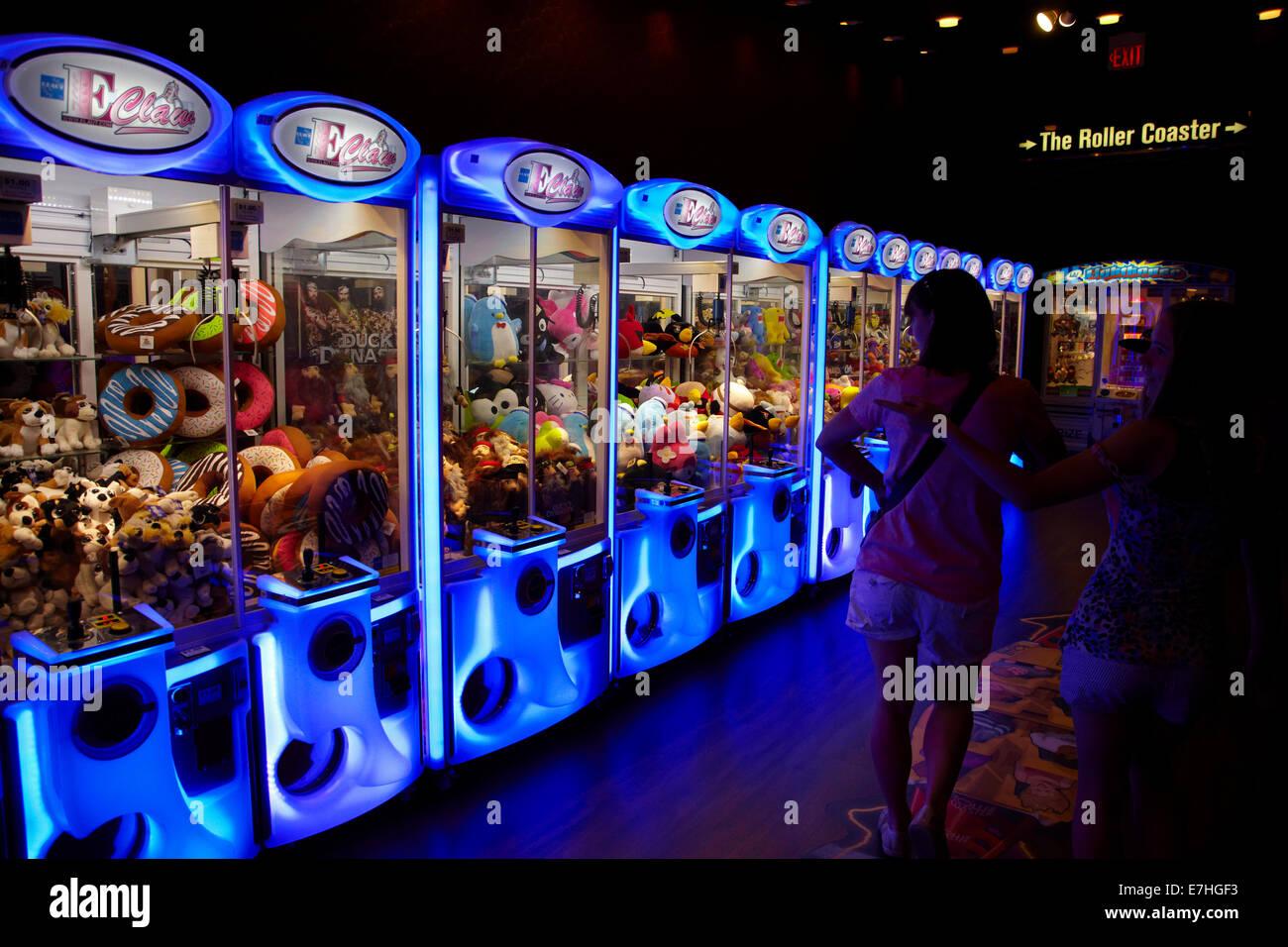 Games arcade at New York-New York Hotel and Casino, Las Vegas, Nevada, USA - Stock Image
