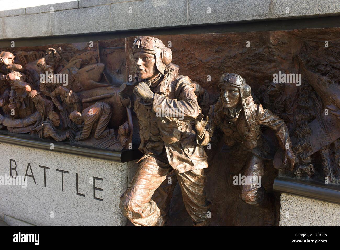 Battle of Britain monument on London's Embankment. - Stock Image
