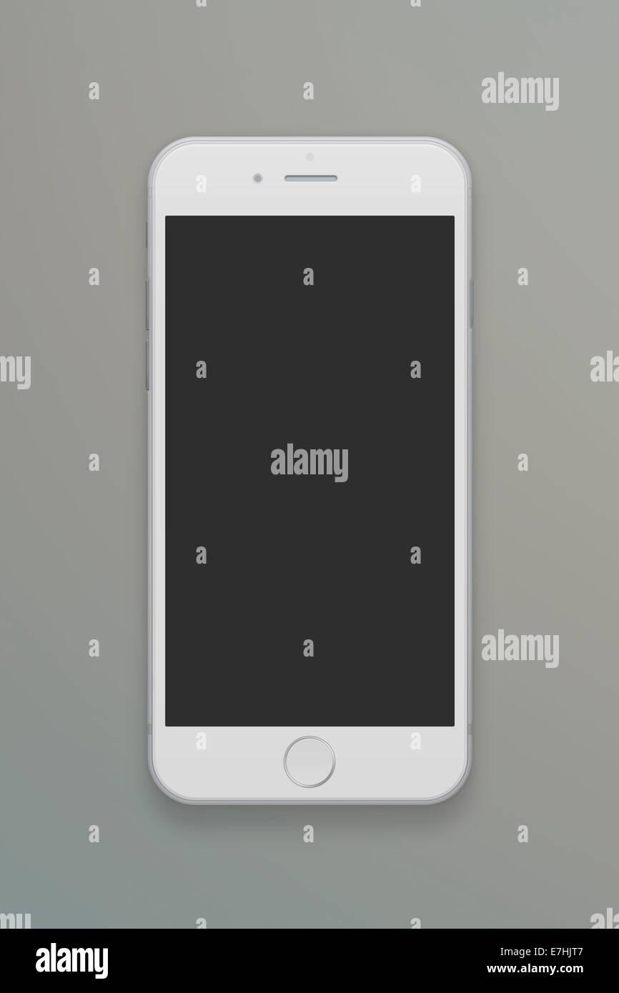 Smart phone iphone 6, illustration, flat design. - Stock Image