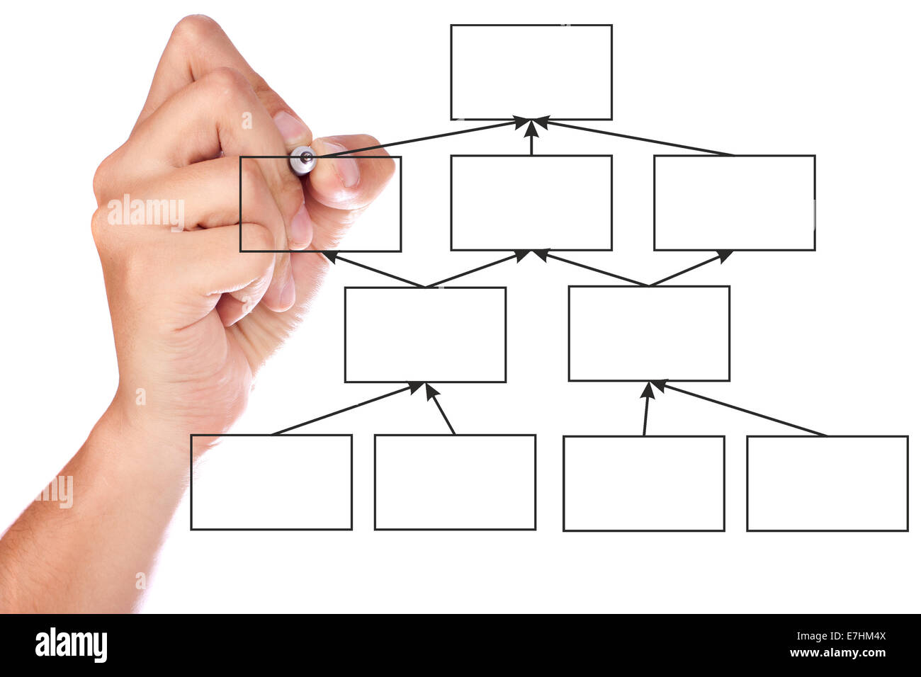 Businessman Drawing Flow Chart On Stock Photos Businessman Drawing