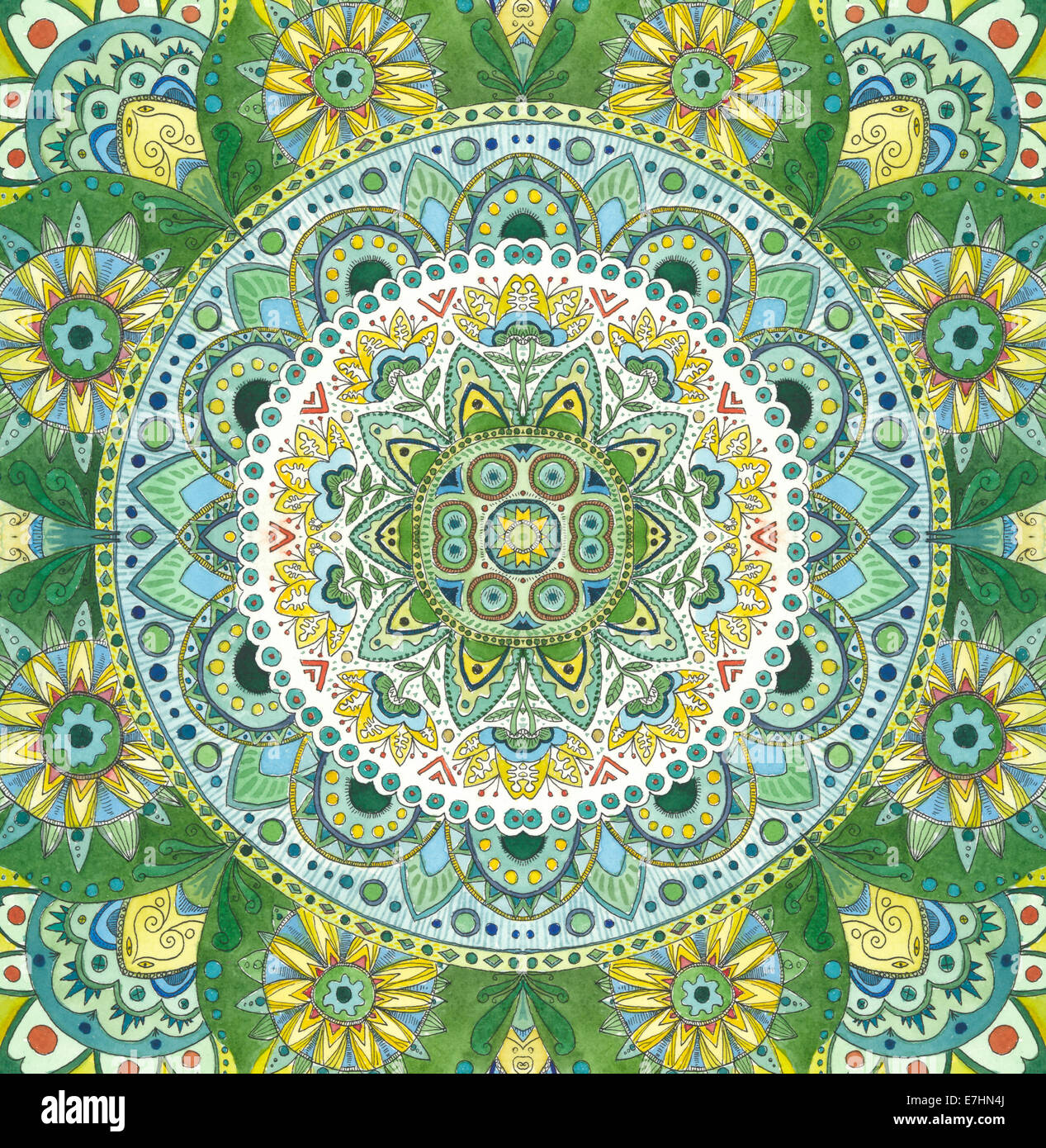 Green Mandala - Stock Image
