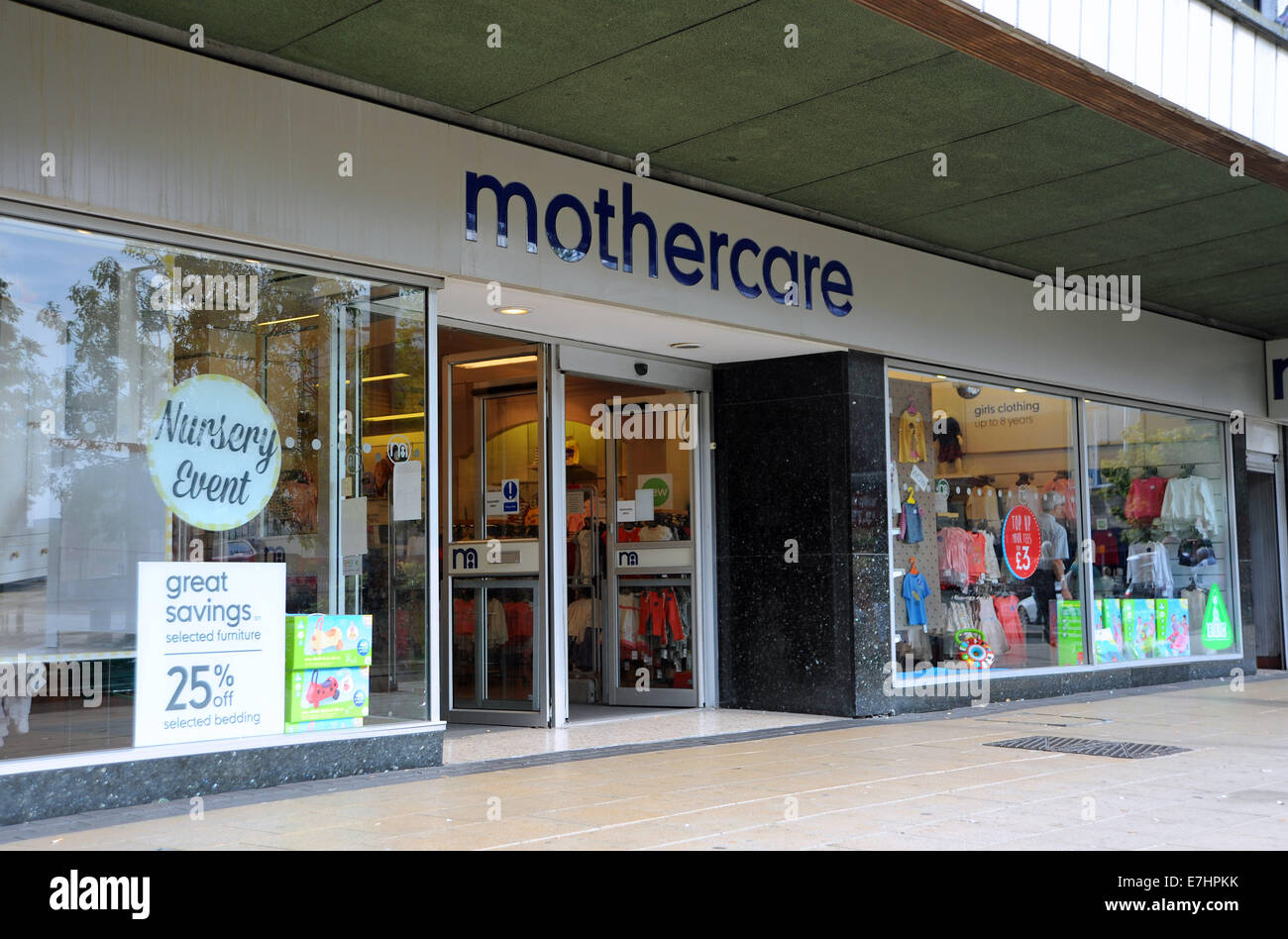 Crawley West Sussex UK - Mothercare store and shop - Stock Image