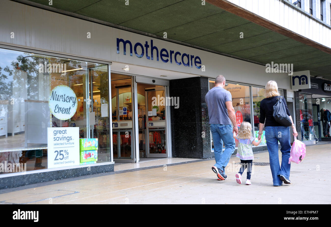 Crawley West Sussex UK - Mothercare store and shop with people - Stock Image