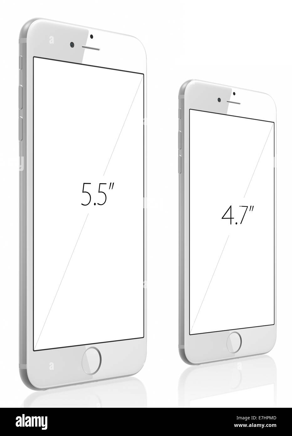 The new SmartPhone with higher-resolution 4.7 and 5.5-inch screens - Stock Image