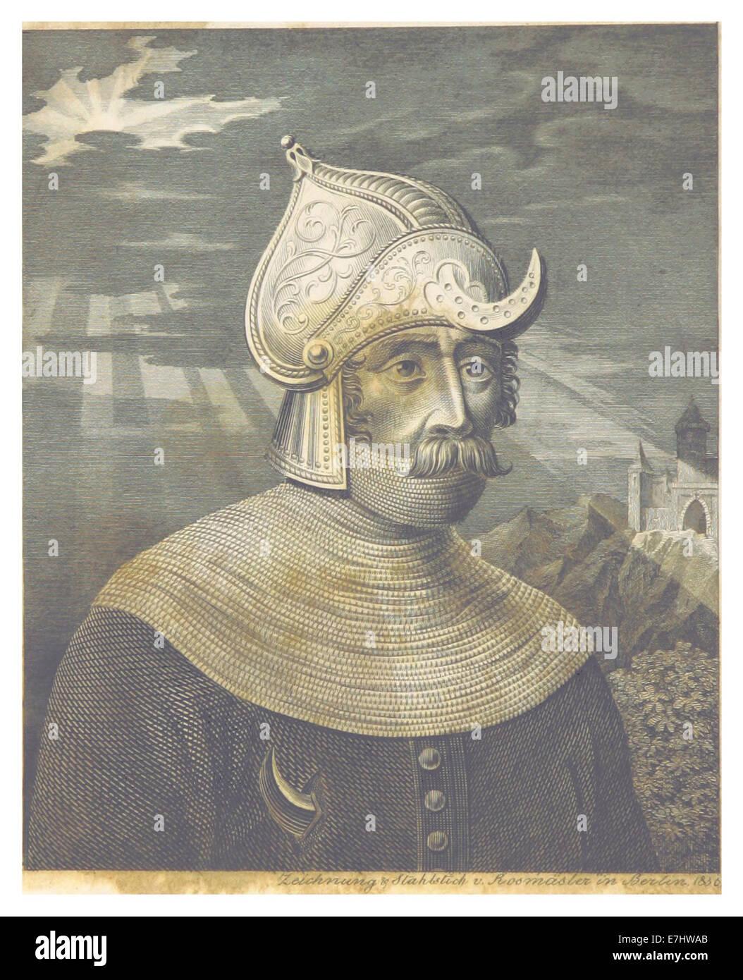 FISCHER(1836) p006 TASSILO - Stammvater der Hohenzollern - Stock Image