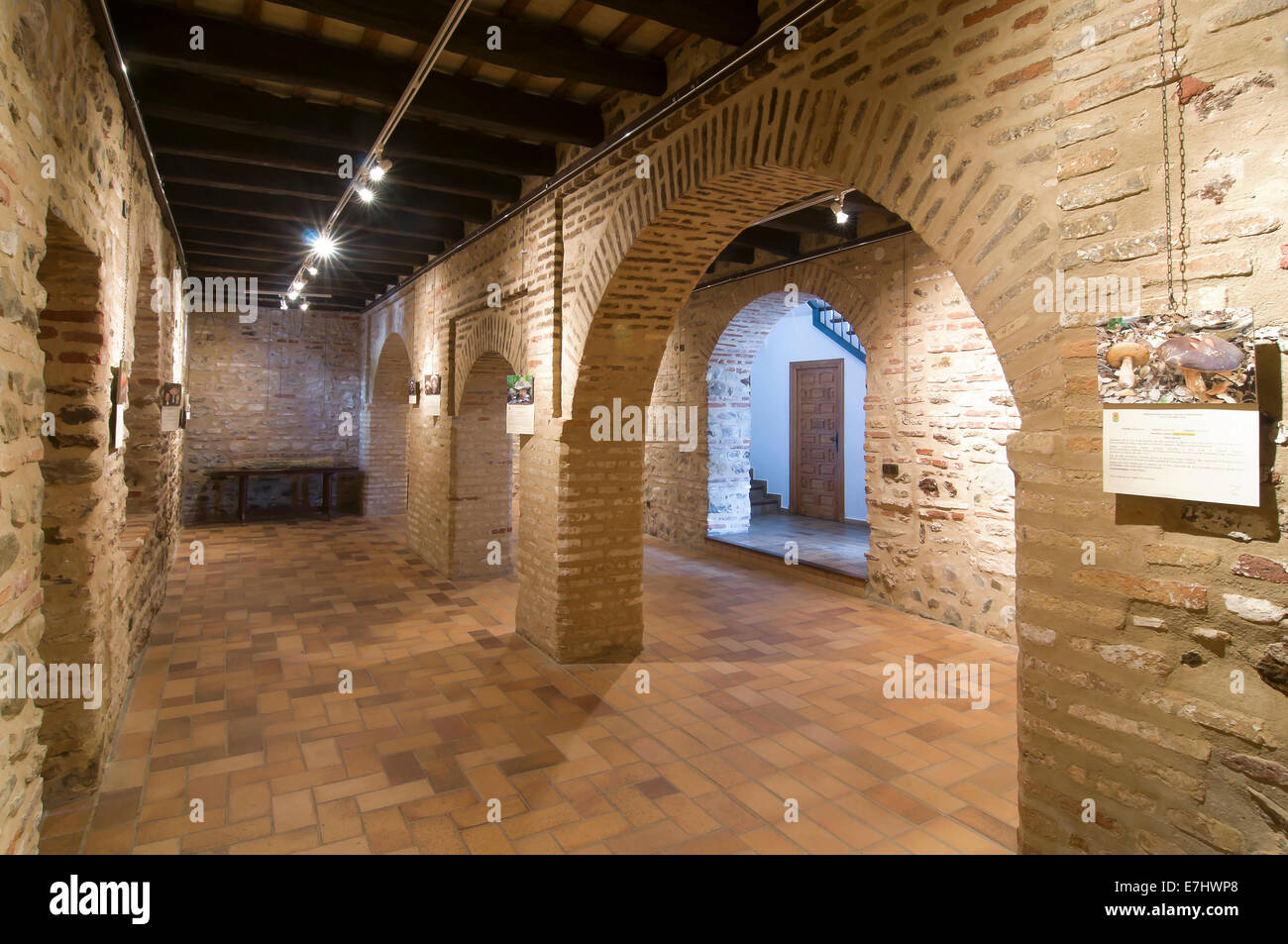 Mudejar room Museum-15th century, Town hall, La Redondela, Huelva province, Region of Andalusia, Spain, Europe - Stock Image