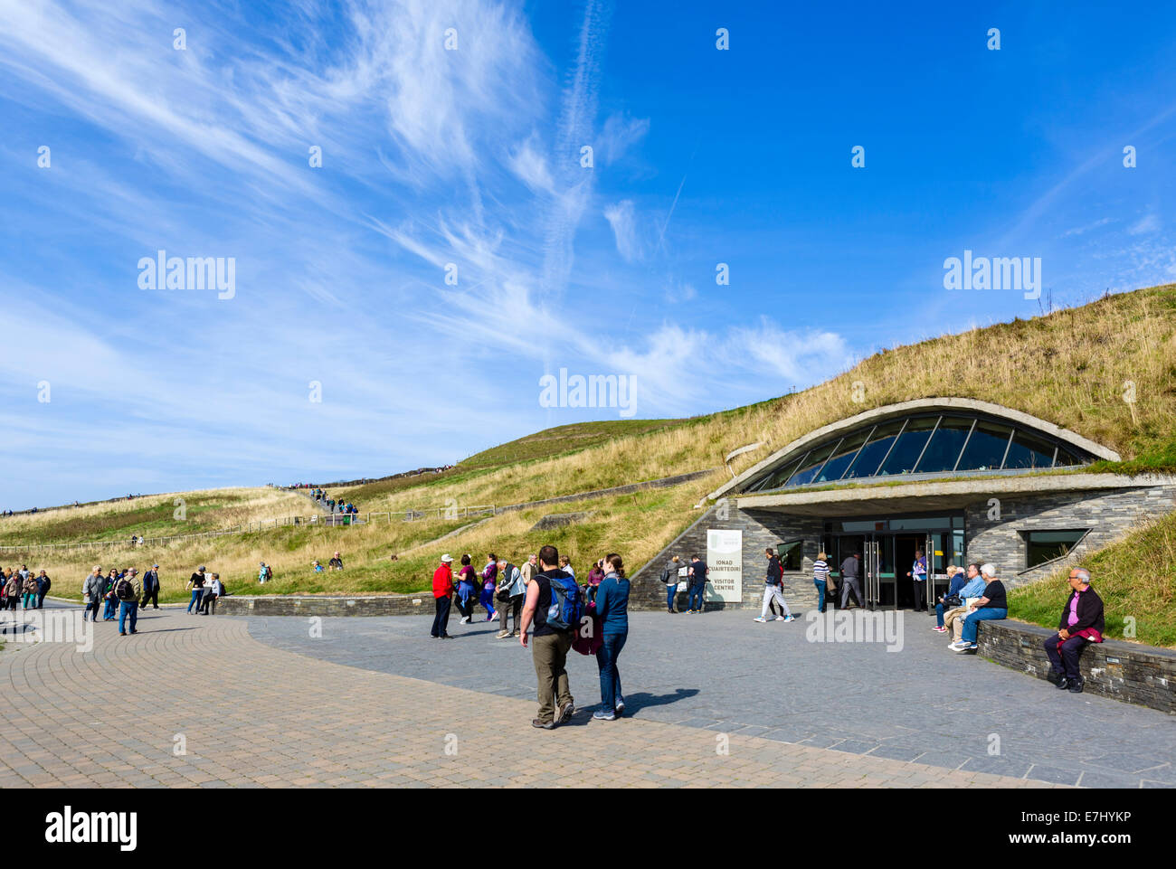 Visitor Centre at the Cliffs of Moher, The Burren, County Clare, Republic of Ireland - Stock Image