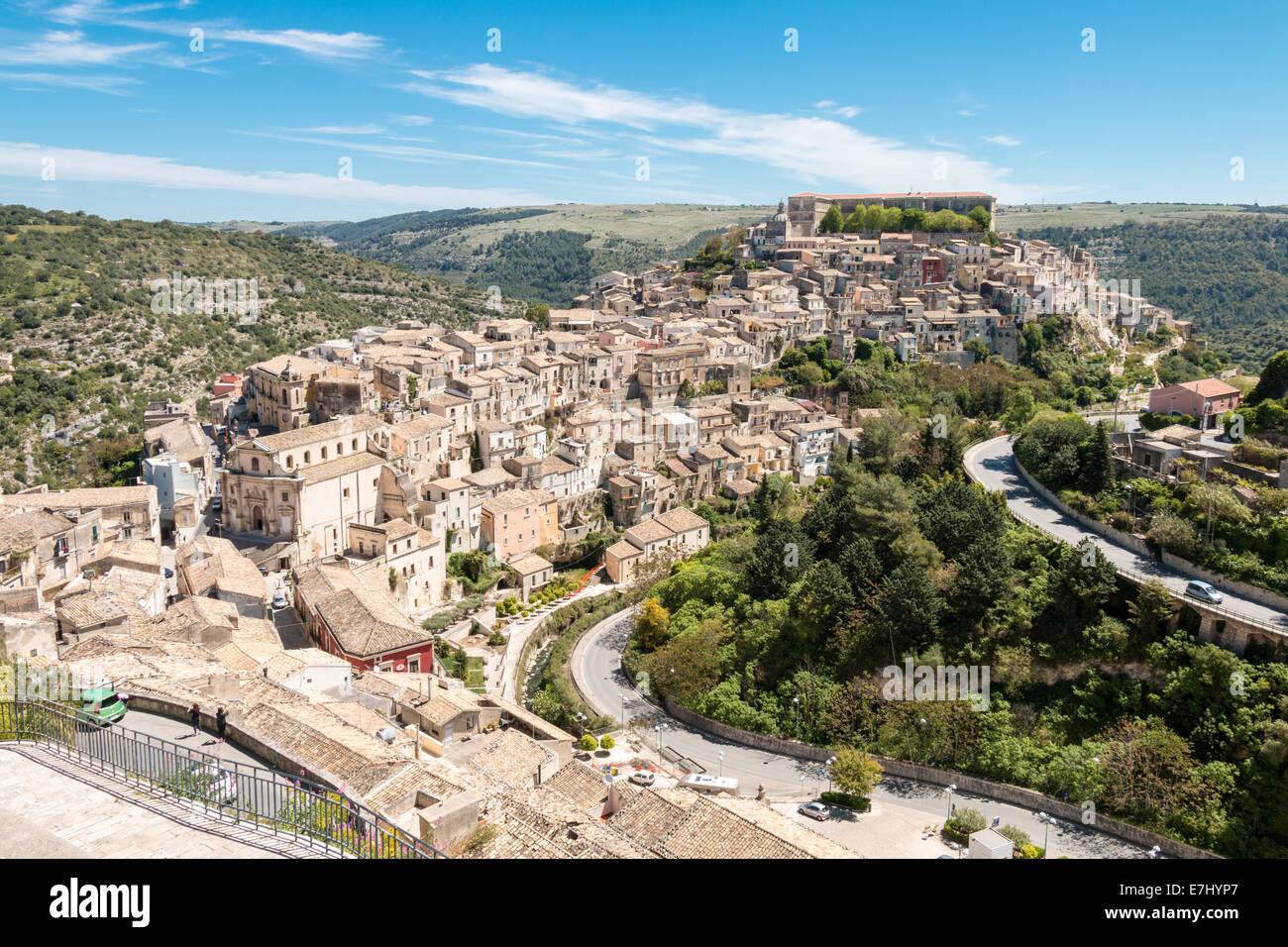Ragusa Ibla small town in Silcily - Stock Image