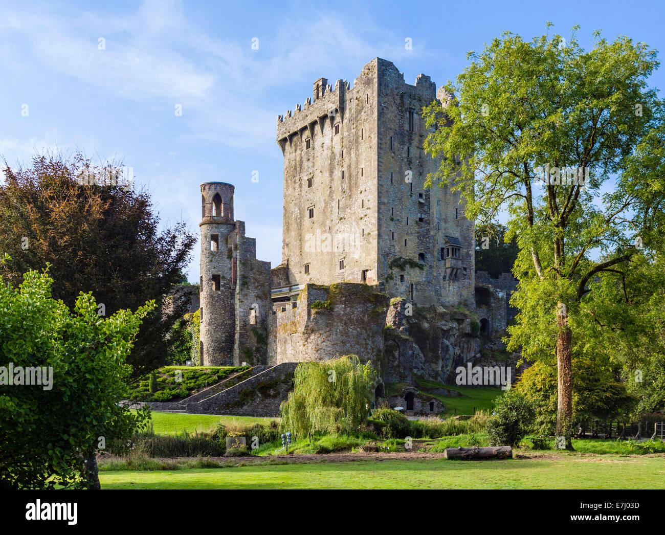 Blarney Castle, site of the Blarney Stone, near Cork, County Cork, Republic of Ireland - Stock Image