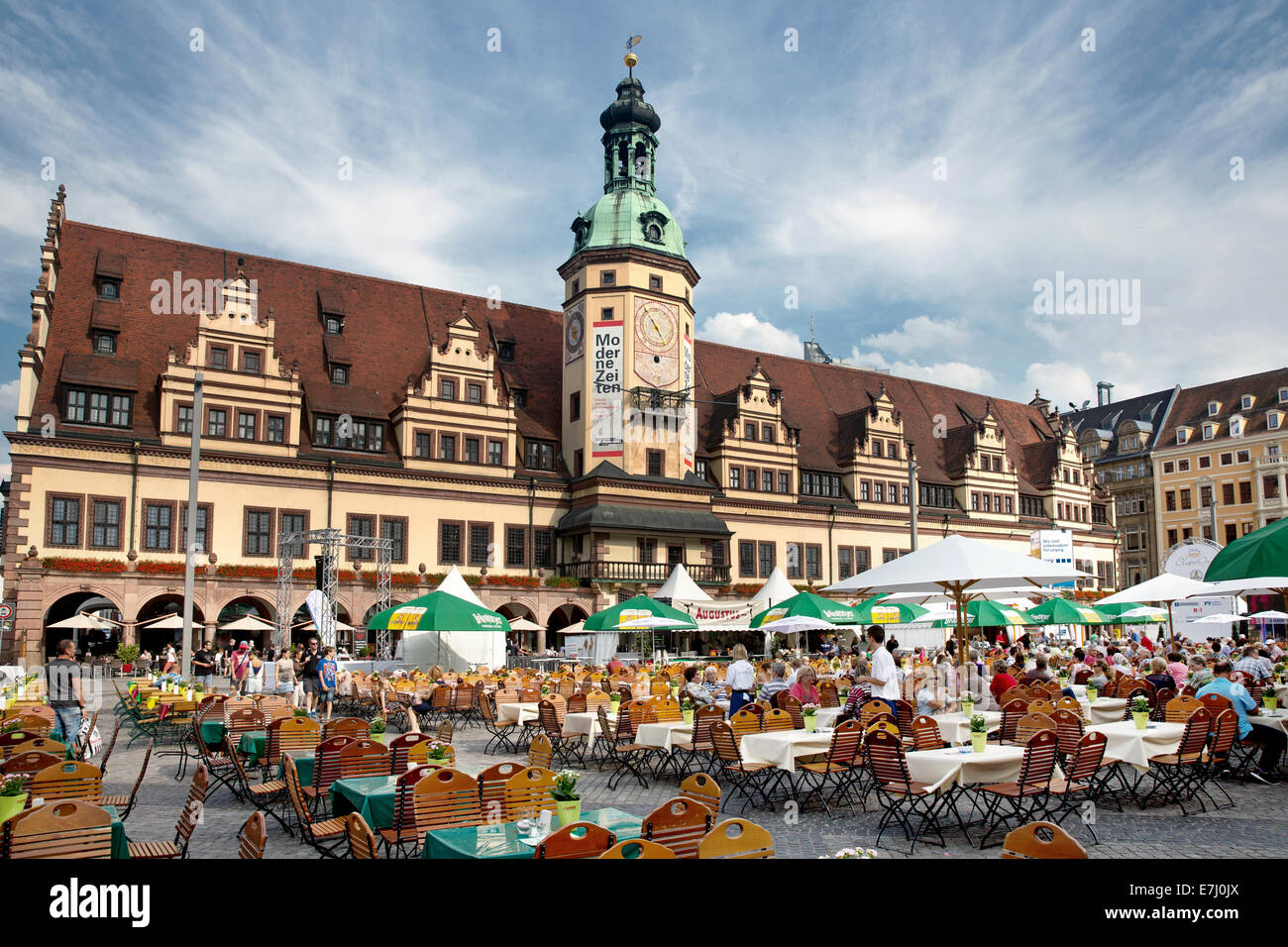 The Old Town Hall And Clock Tower During The Classic Open Festival Stock Photo Alamy