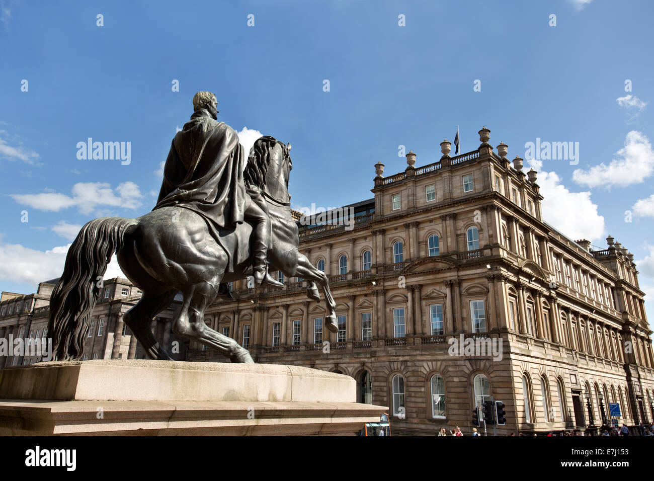 The Duke of Wellington Statue in Princes Street, Edinburgh, Scotland. - Stock Image