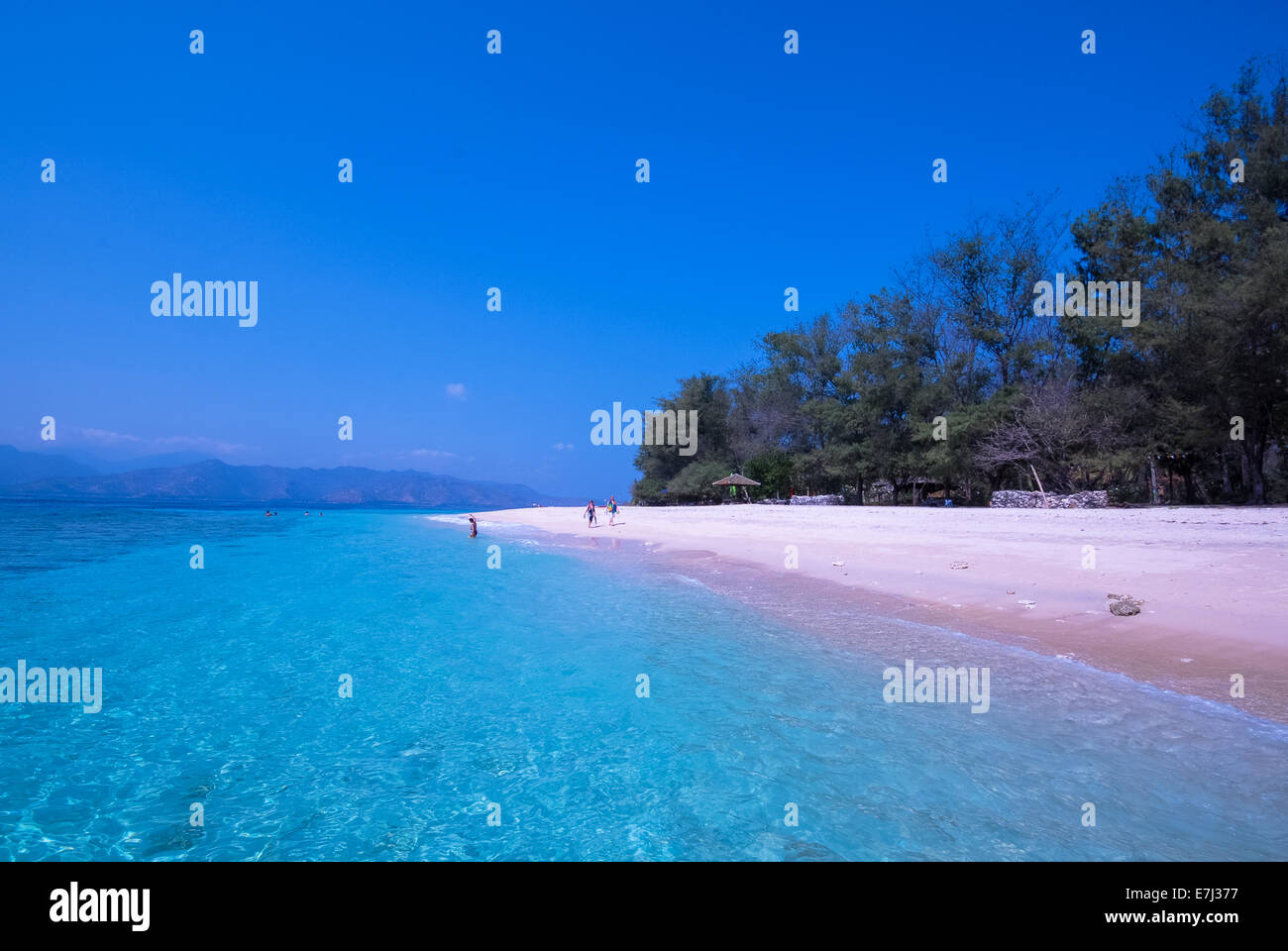 gili's islands at Lombok, Indonesia Stock Photo