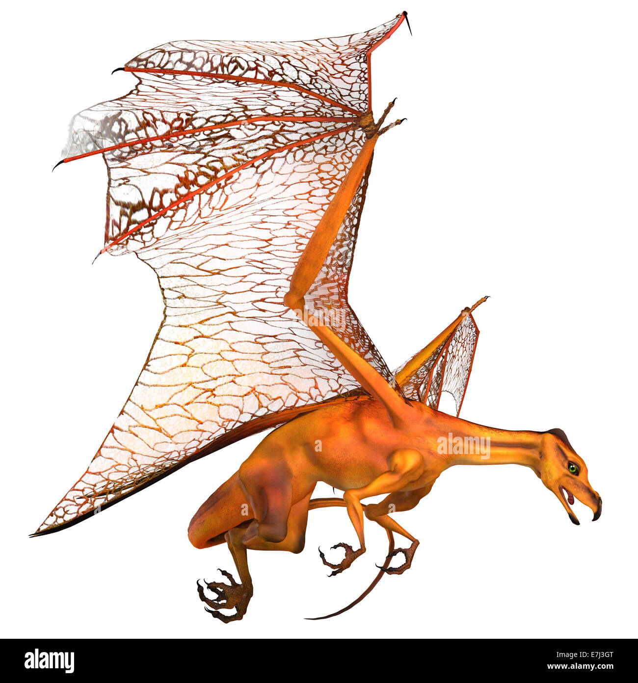 Dragons are mythical creatures known throughout history as having wings and breathing fire. - Stock Image