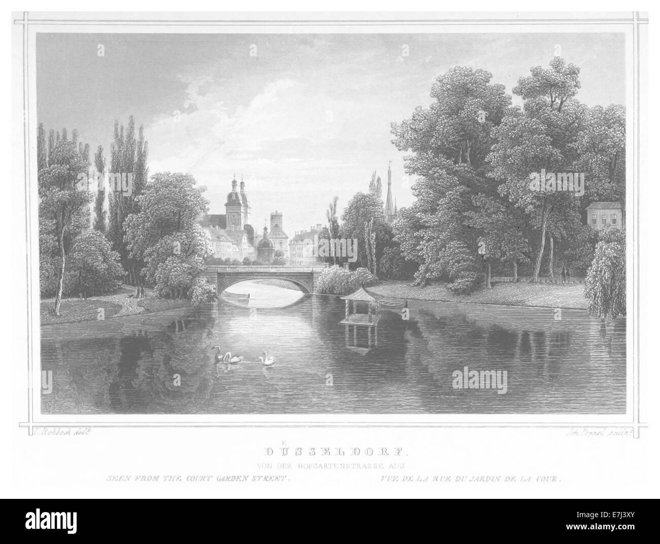 POPPEL(1852) p525 DC39CSSELDORF - Stock Image