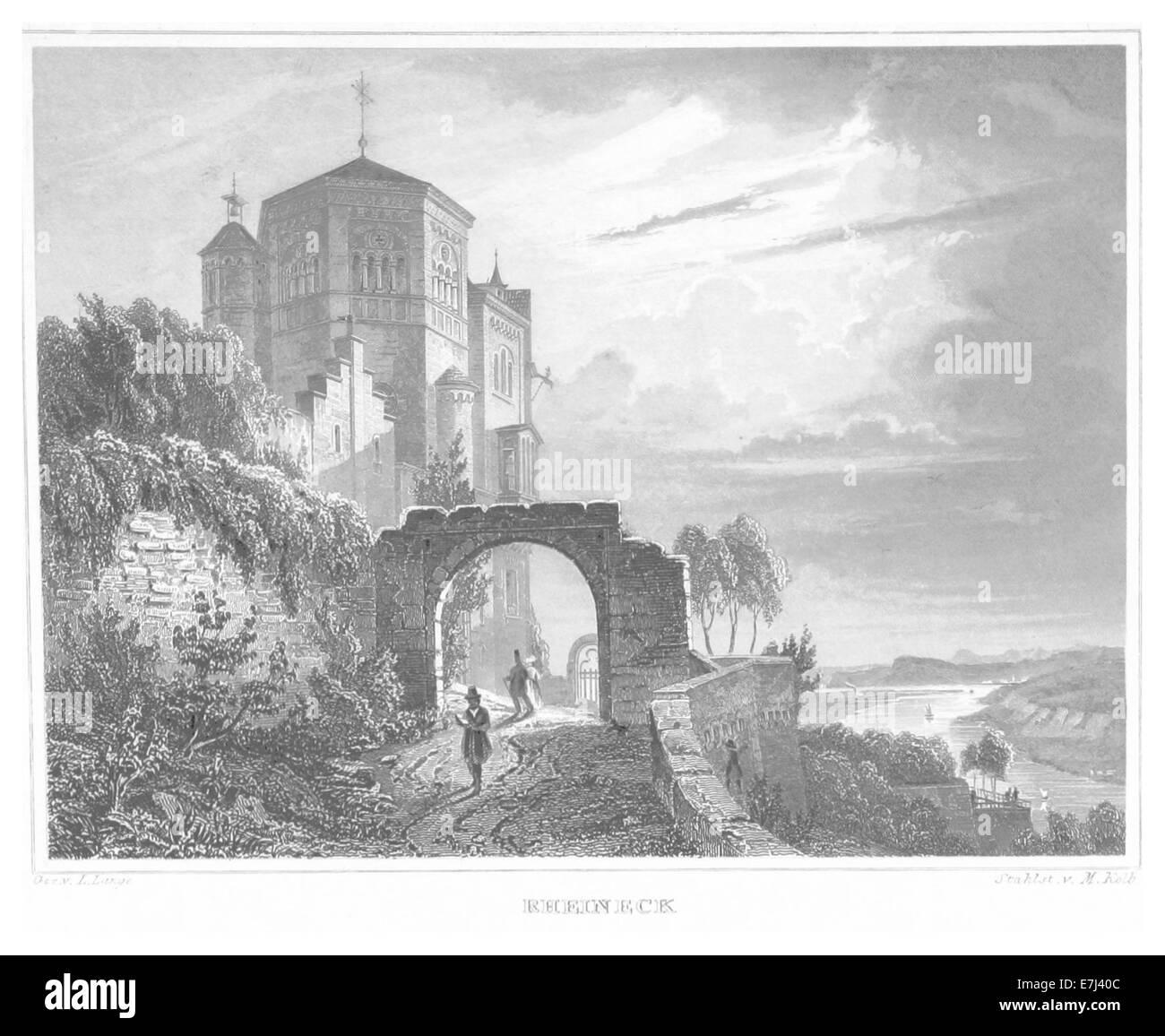 POPPEL(1852) p653 RHEINECK - Stock Image