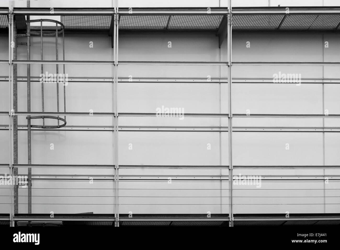 Scaffolding and fire escape - Stock Image