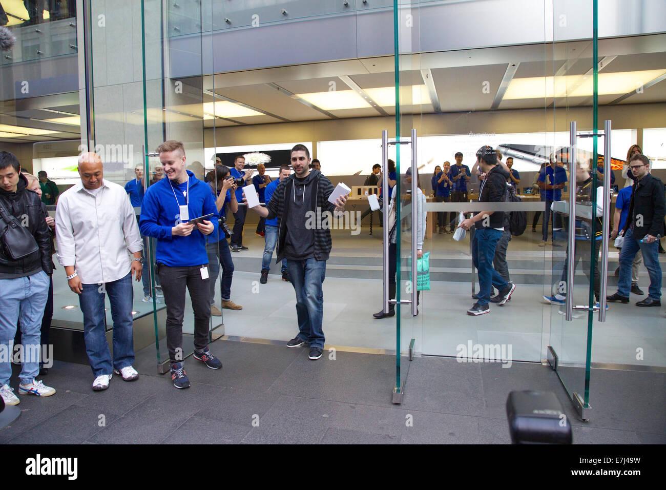 Sydney, Australia. 19th Sep, 2014. David Rahimi editor-in-chief at PhoneBuff.com from Laguna Hills, California is Stock Photo