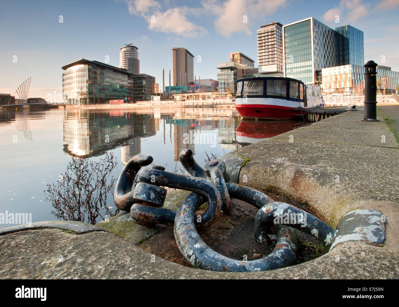 MediaCityUK and the BBC Studios, Salford Quays, Greater Manchester, England, UK - Stock Image