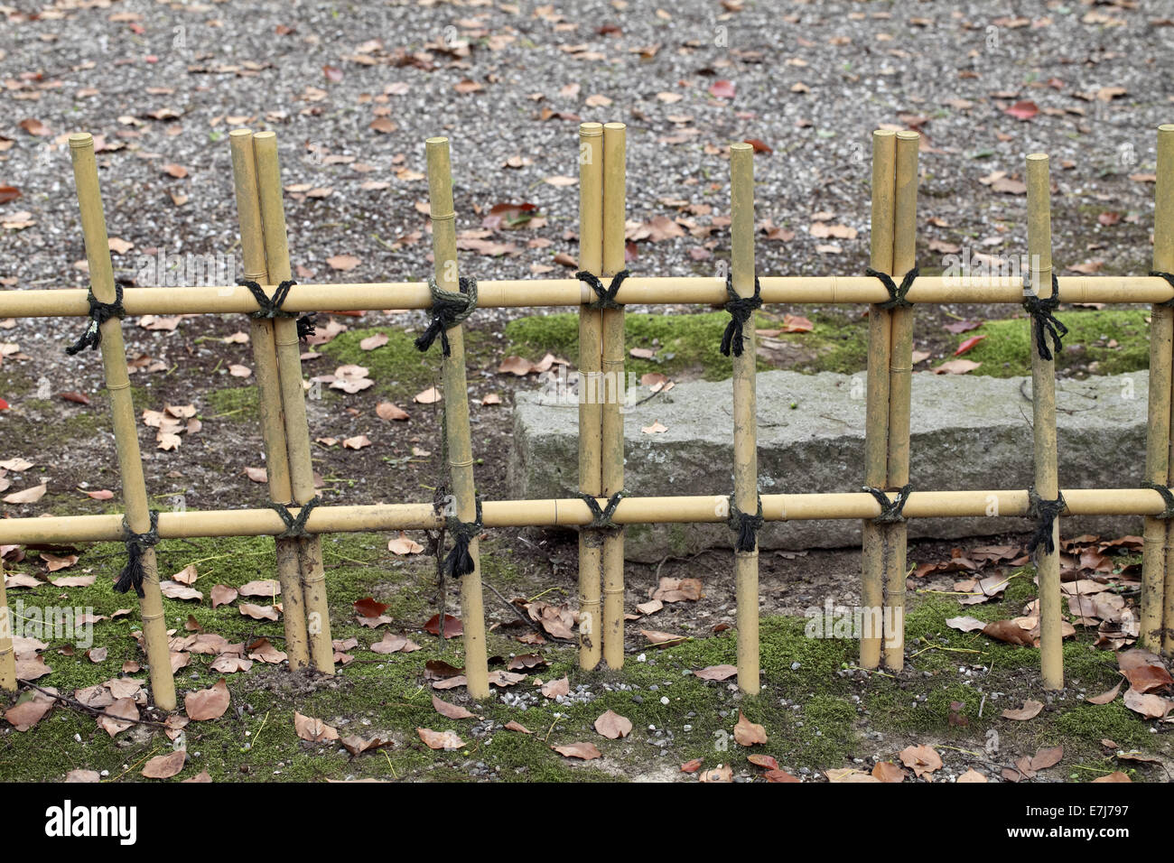 Bamboo Fence In A Japanese Garden Stock Photo: 73544947   Alamy