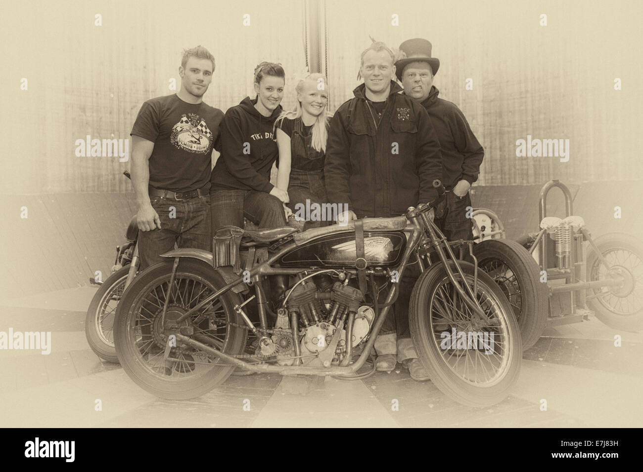 Demon Drome wall of death Goodwood - Stock Image