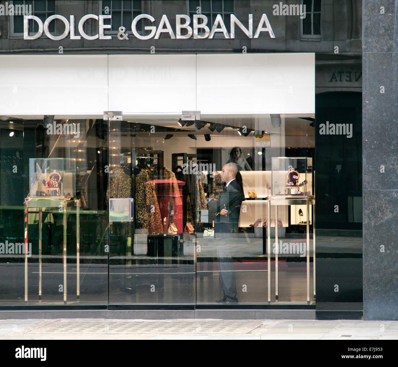Dolce & Gabbana Store on Sloane Street in Knightsbridge - London UK - Stock Image