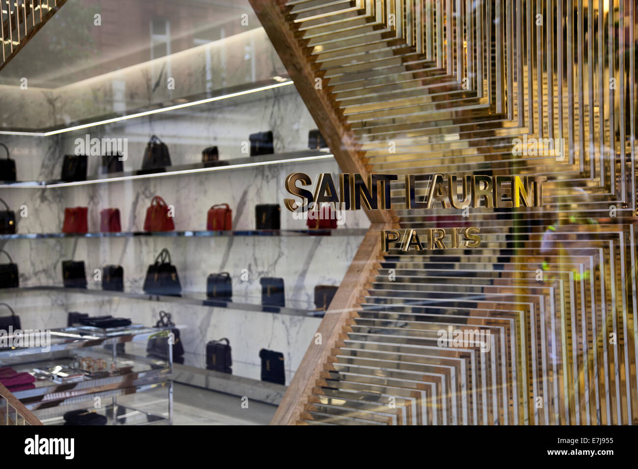 56dbba4207e82 Saint Laurent Store on Sloane Street in Knightsbridge - London UK - Stock  Image