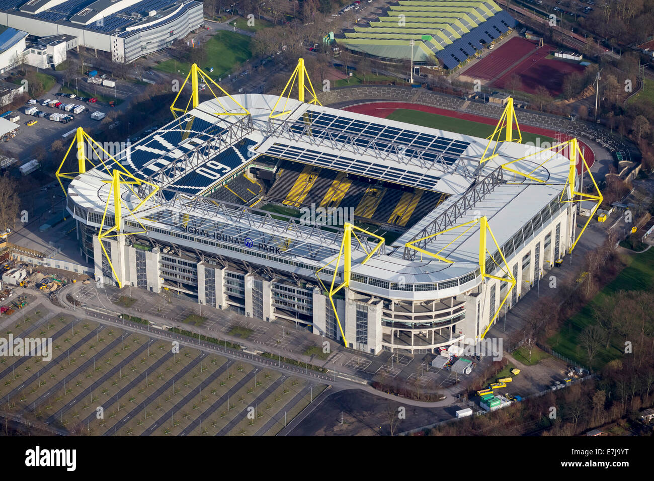 aerial view signal iduna park football stadium dortmund ruhr stock photo 73547036 alamy. Black Bedroom Furniture Sets. Home Design Ideas