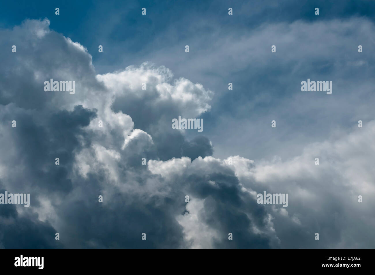 Cumulonimbus cloud, thunderstorm cloud, Germany - Stock Image