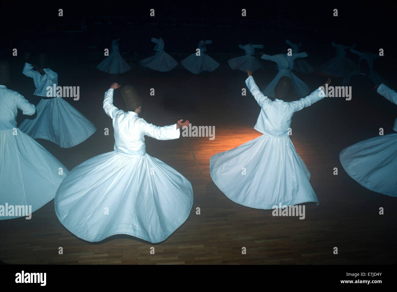 Whirling Dervishes, Konya, Turkey - Stock Image