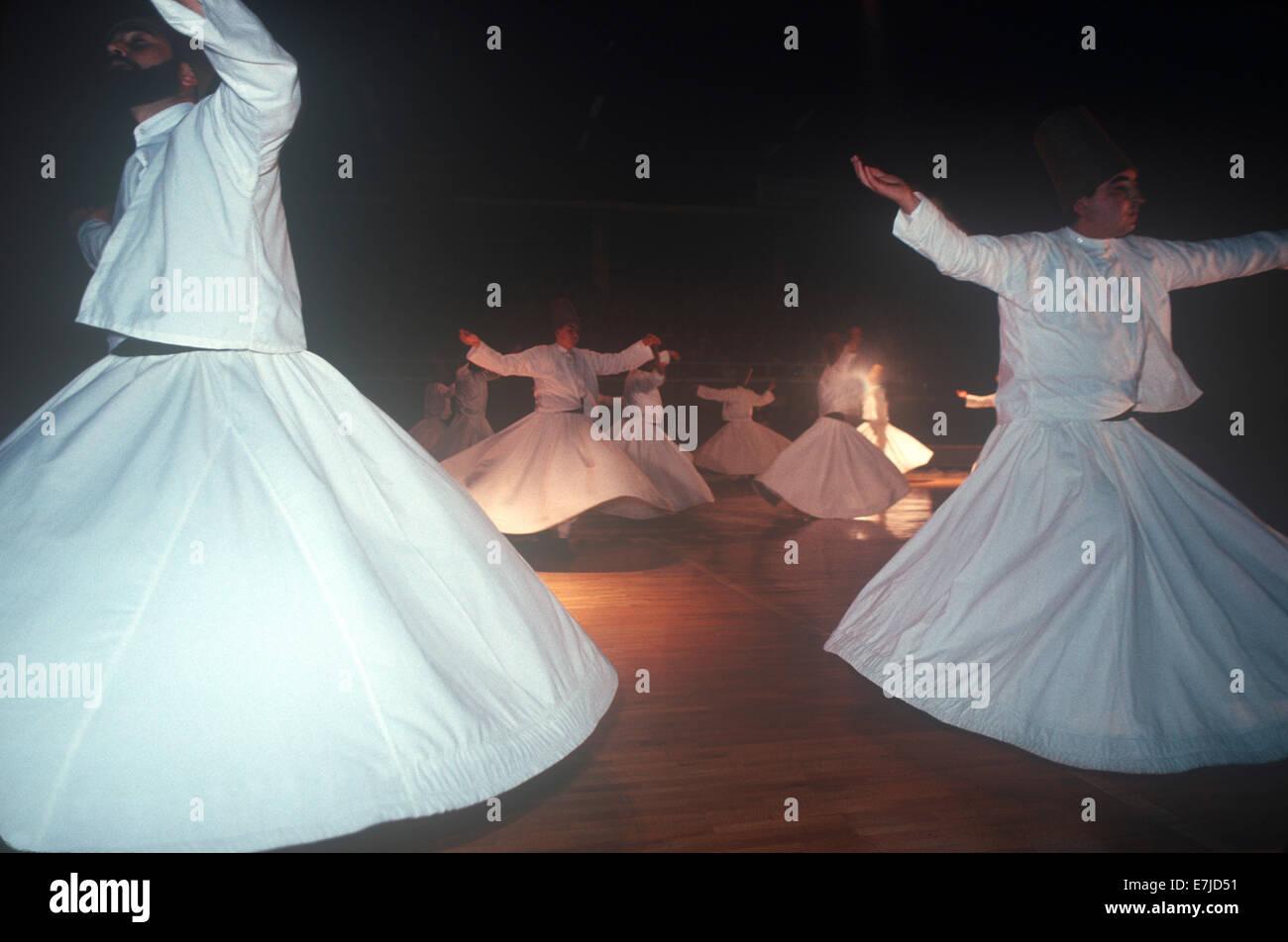 Whirling Dervishes, Konya, Turkey - Stock Image