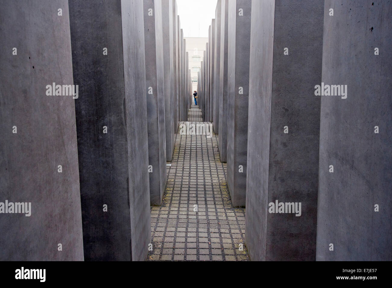 Germany, Europe, Berlin, monument, Jew, steles, stele monument, Holocaust, Holocaust memorial, memorial - Stock Image