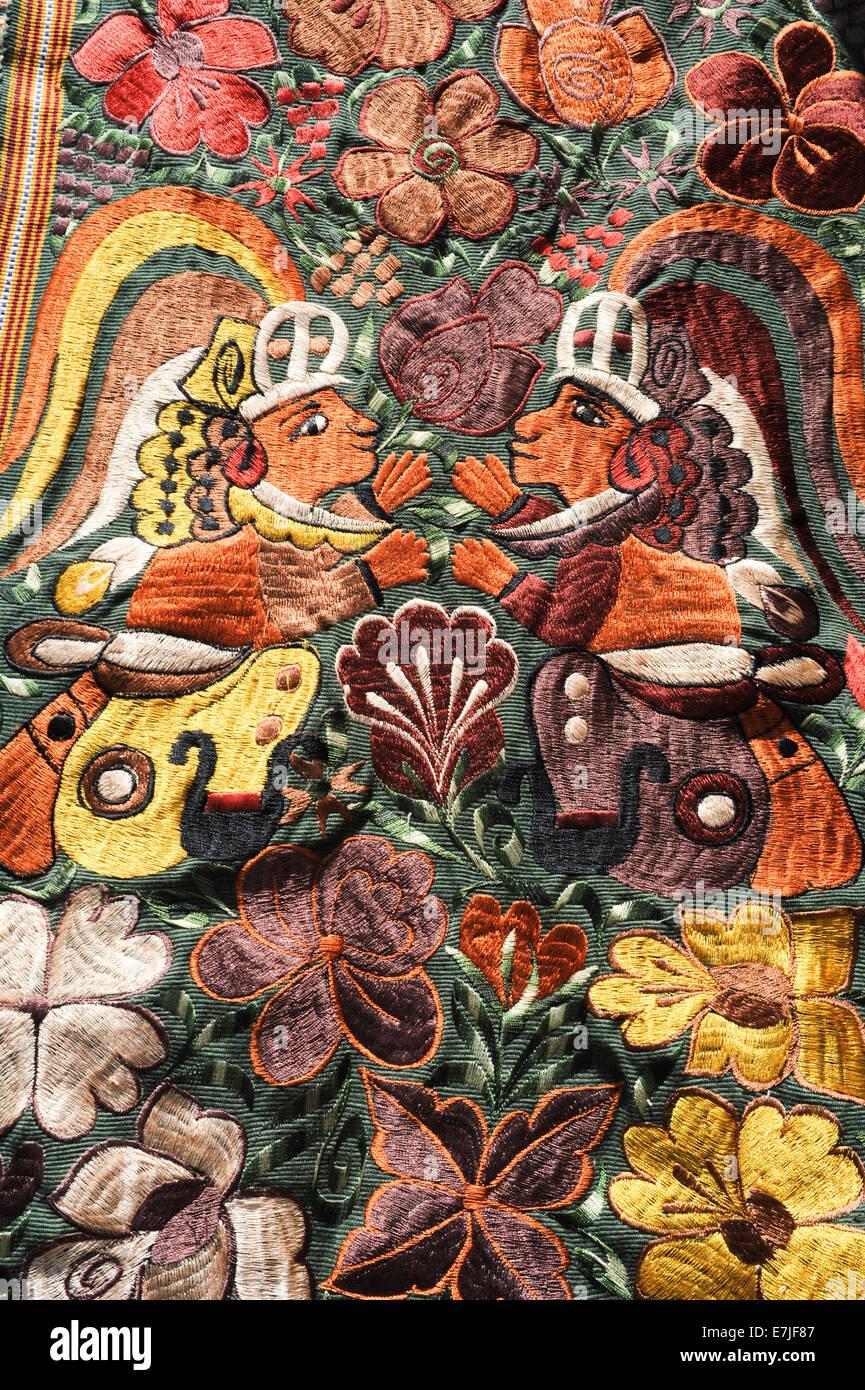 Guatemala, Central America, Indian, abstract, art, artistic, artwork, Atitlan, backdrop, background, border, craft, - Stock Image