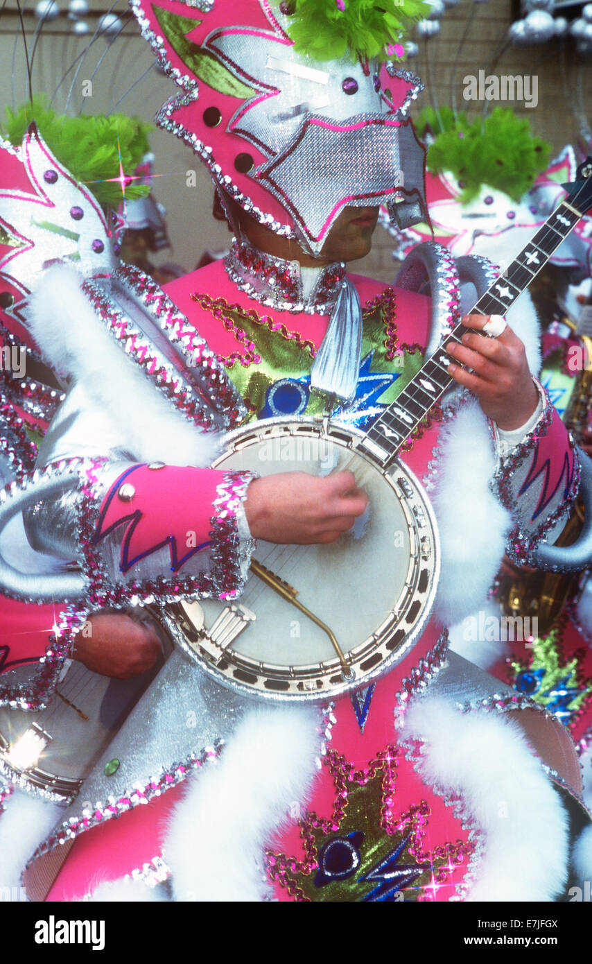 Mummer's Parade, New Year, Day, Philadelphia, Pennsylvania - Stock Image
