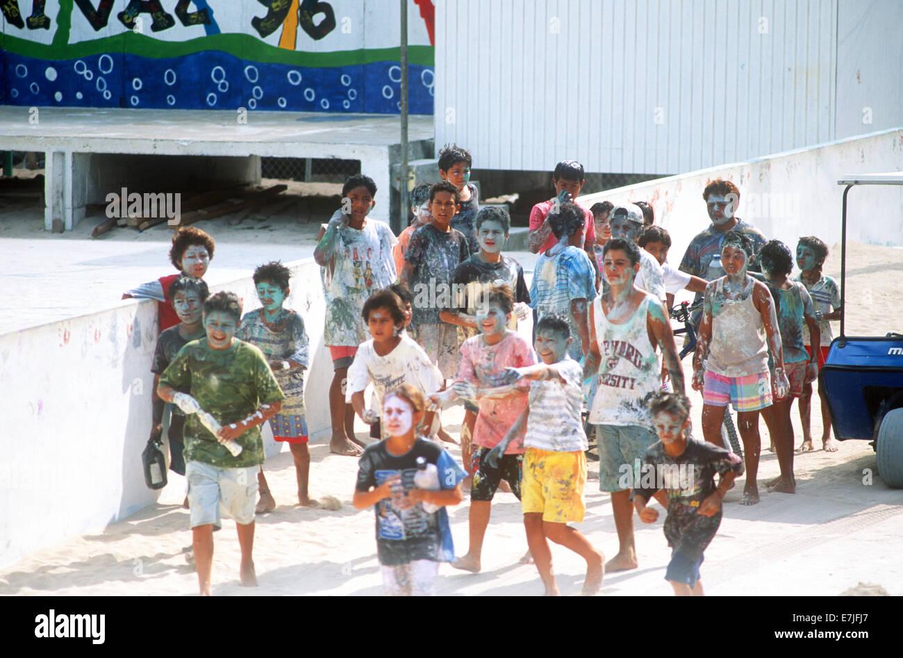 San Pedro, Carnival, Ambergris Caye, Belize - Stock Image
